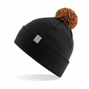 Tutimüts, must+oranz